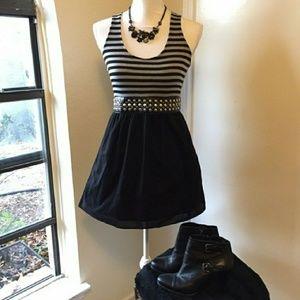 Belle Du Jour Dress w/ Pockets + Studded Belt